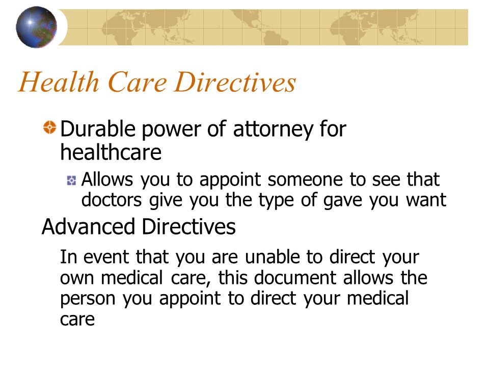 Health Care Directives