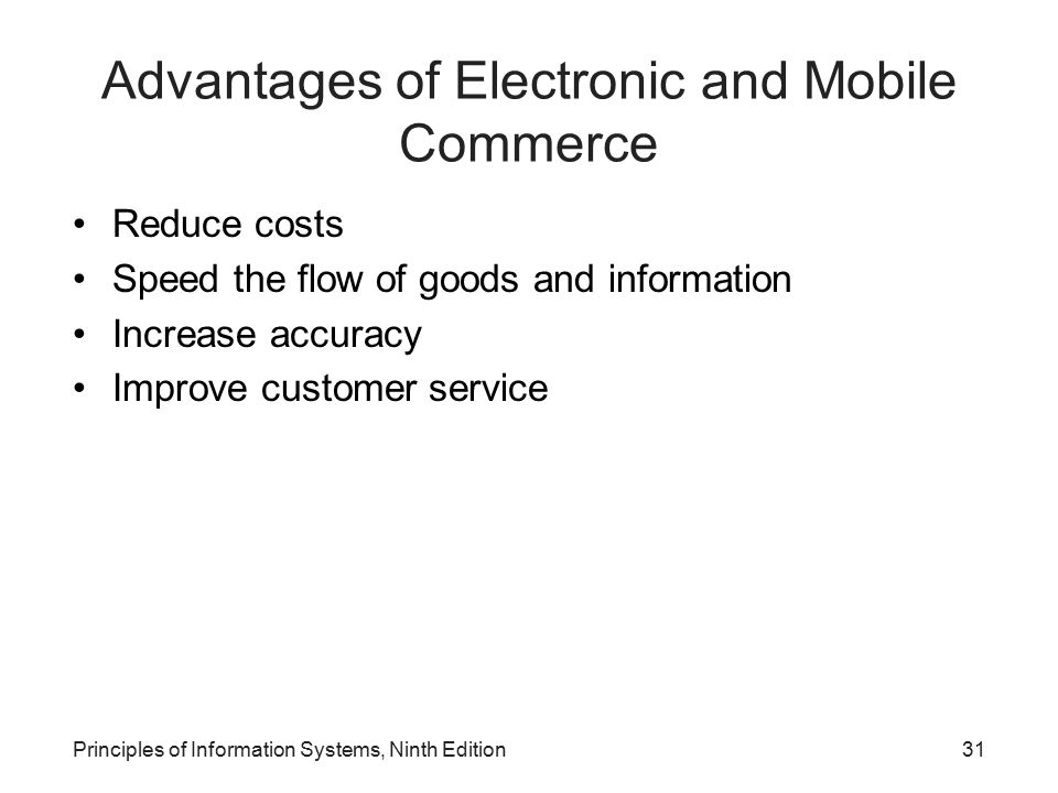 Advantages of Electronic and Mobile Commerce