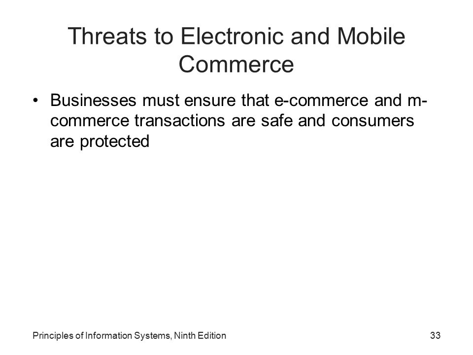 Threats to Electronic and Mobile Commerce