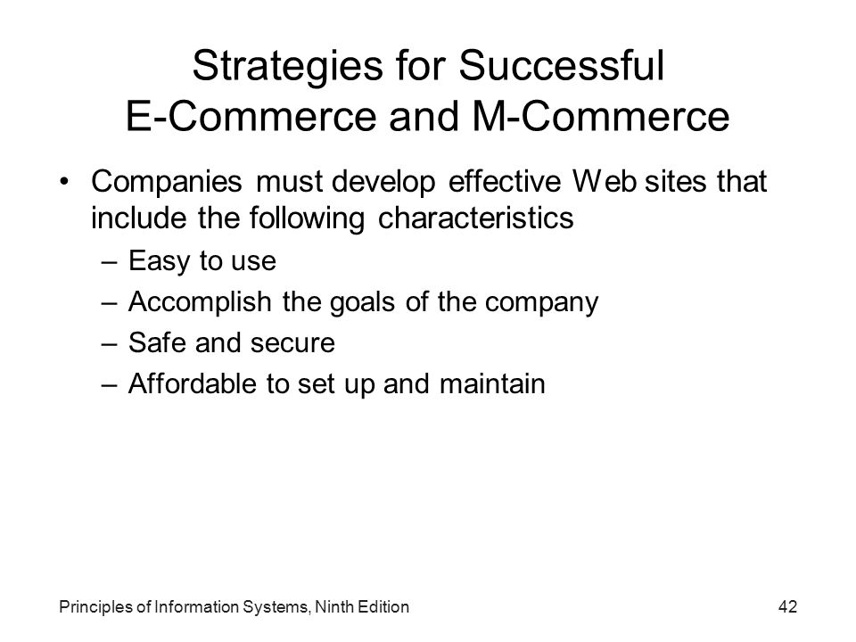 Strategies for Successful E-Commerce and M-Commerce