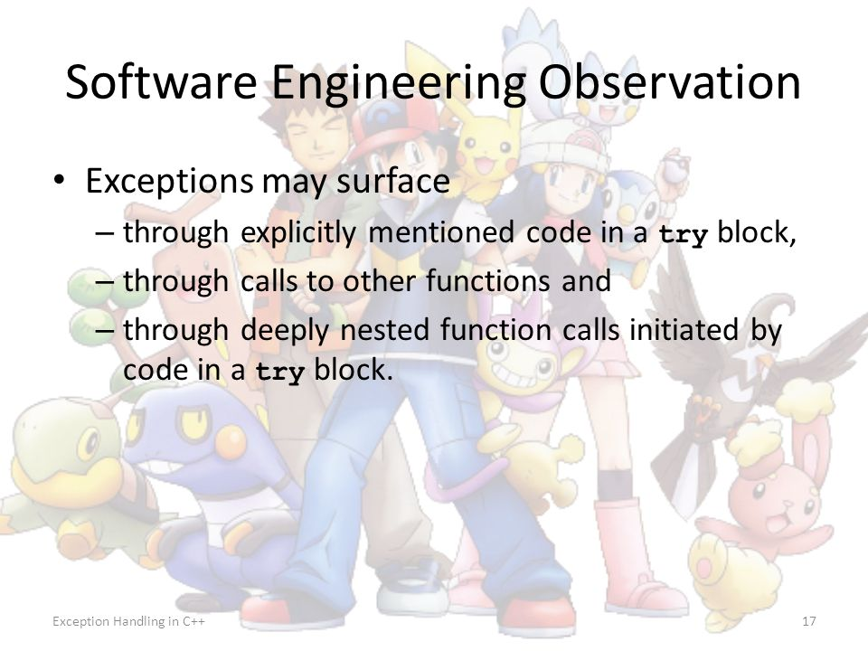 Software Engineering Observation