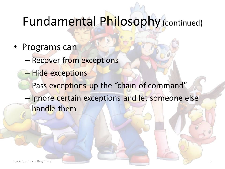 Fundamental Philosophy (continued)