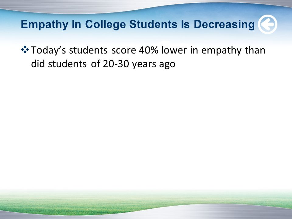 Empathy In College Students Is Decreasing