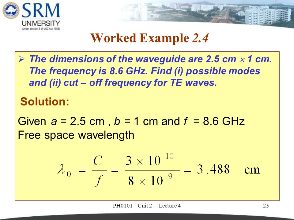 Worked Example 2.4 Solution: