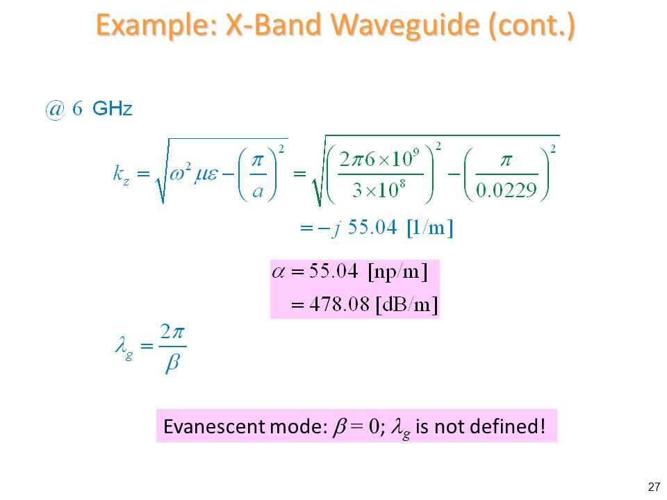 Example: X-Band Waveguide (cont.)