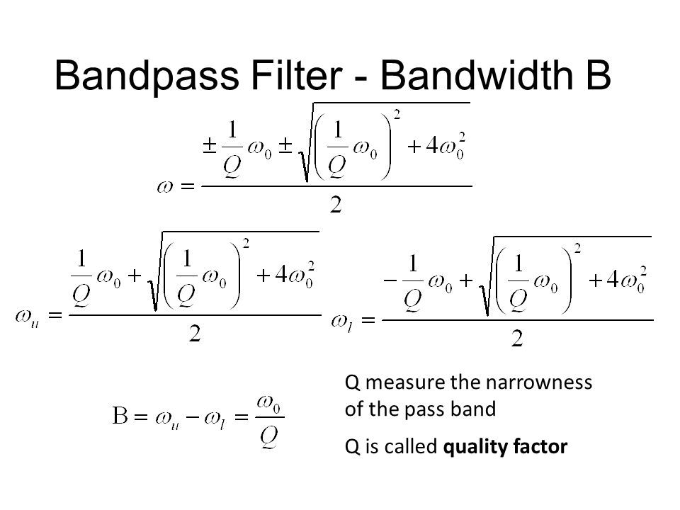 Bandpass Filter - Bandwidth B
