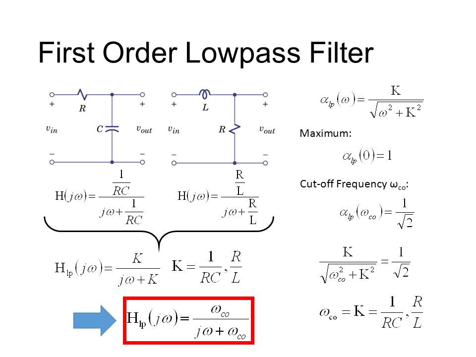 First Order Lowpass Filter