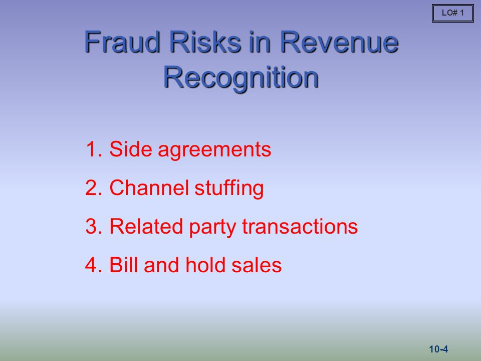 Fraud Risks in Revenue Recognition