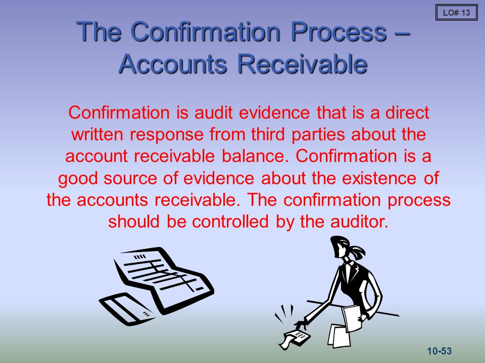 The Confirmation Process – Accounts Receivable