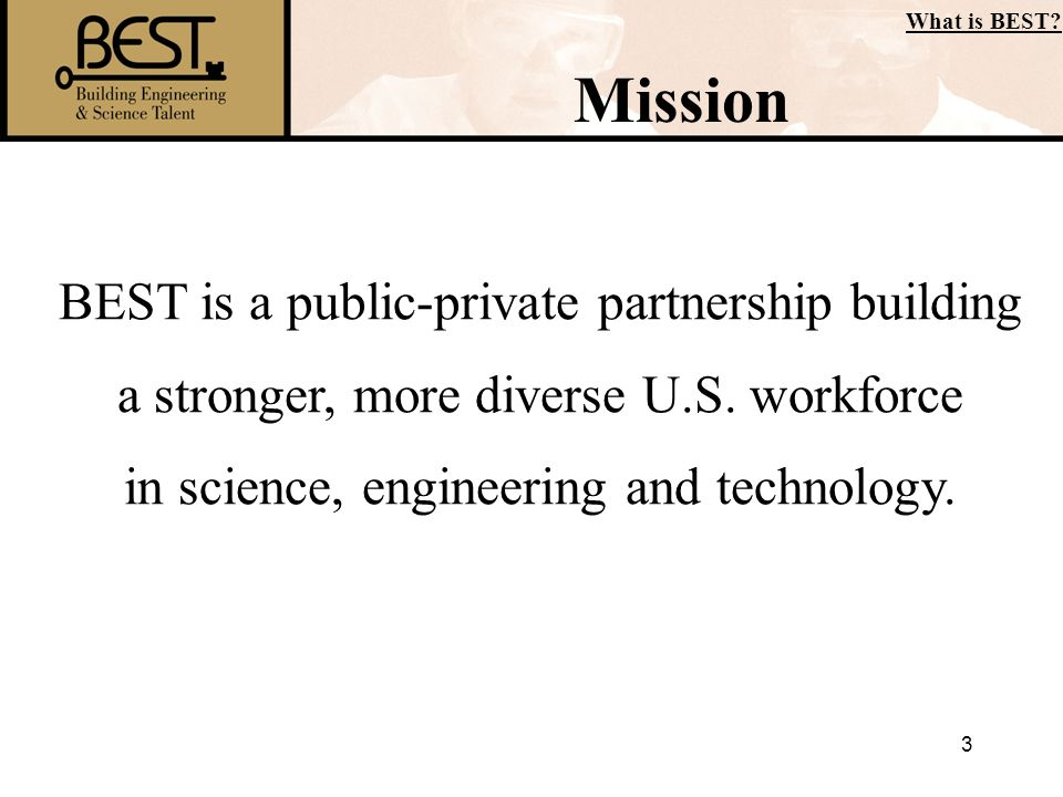 Mission BEST is a public-private partnership building