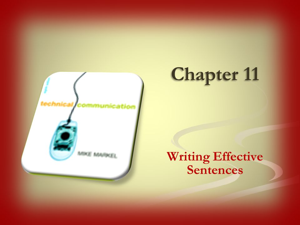 Writing Effective Sentences