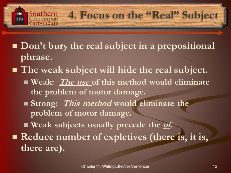 4. Focus on the Real Subject