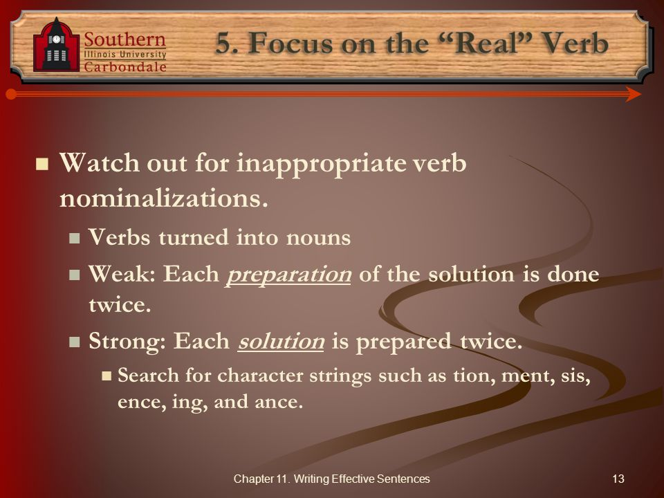 5. Focus on the Real Verb