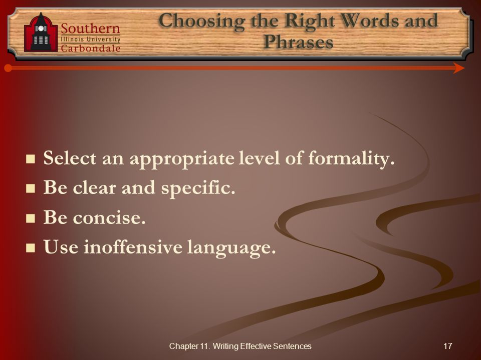 Choosing the Right Words and Phrases