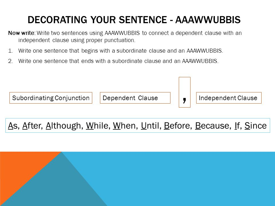 Decorating your sentence - AAAWWUBBIS
