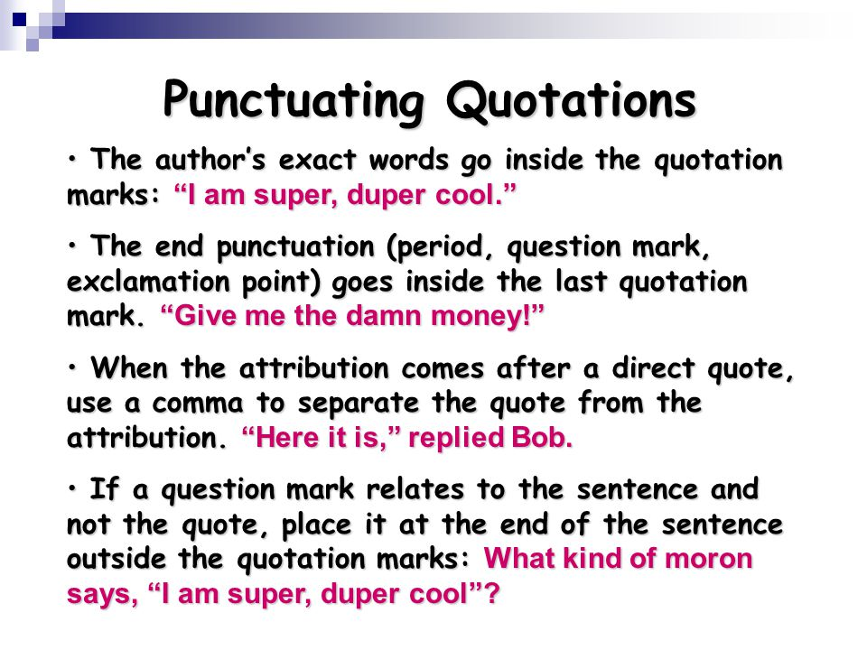 Using Quotations Ppt Video Online Download
