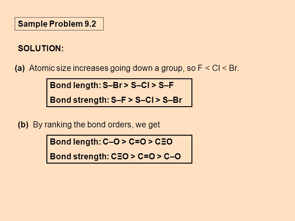 Sample Problem 9 2 Solution A Atomic Size Increases Going Down Group