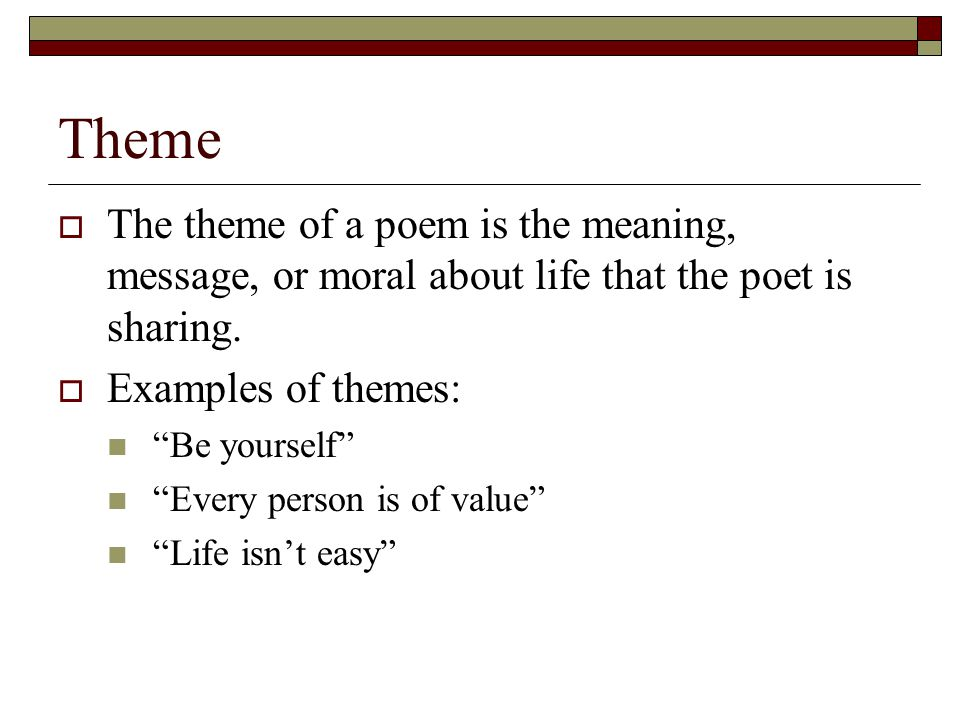 Thematic poem examples   creativepoem. Co.