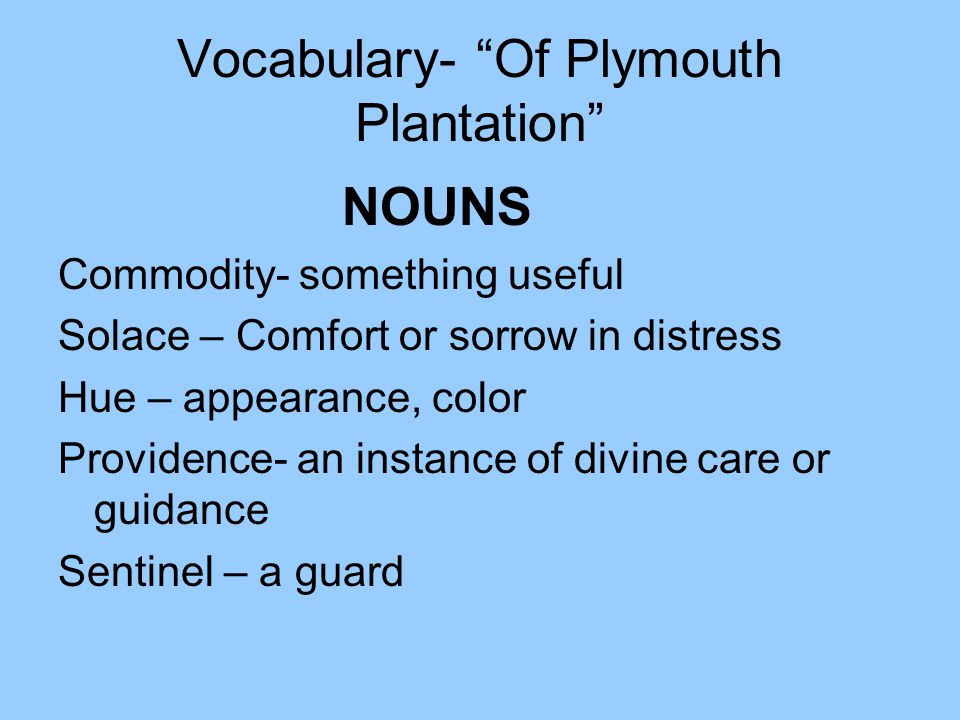 of plymouth plantation chapter summary