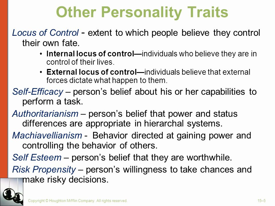 Other Personality Traits