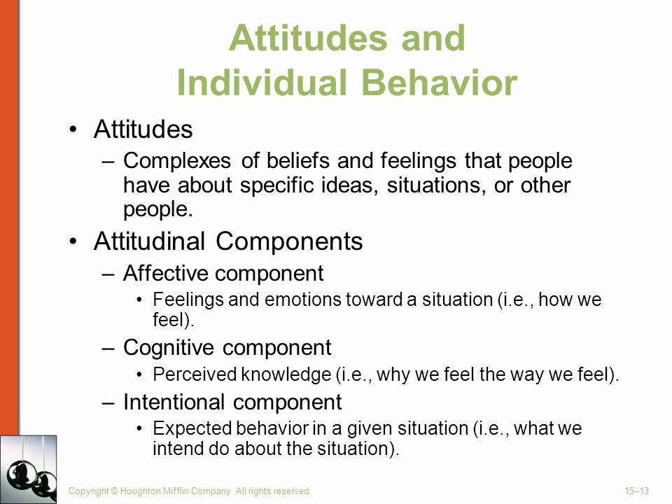 Attitudes and Individual Behavior