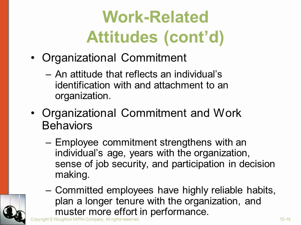 Work-Related Attitudes (cont'd)
