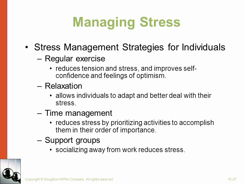 Managing Stress Stress Management Strategies for Individuals