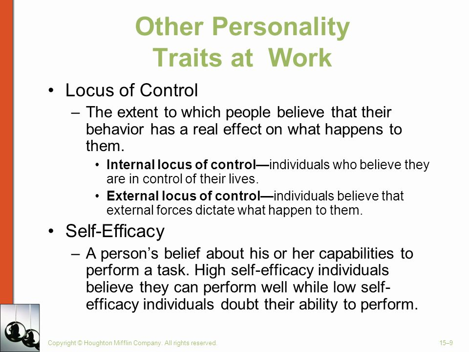 Other Personality Traits at Work