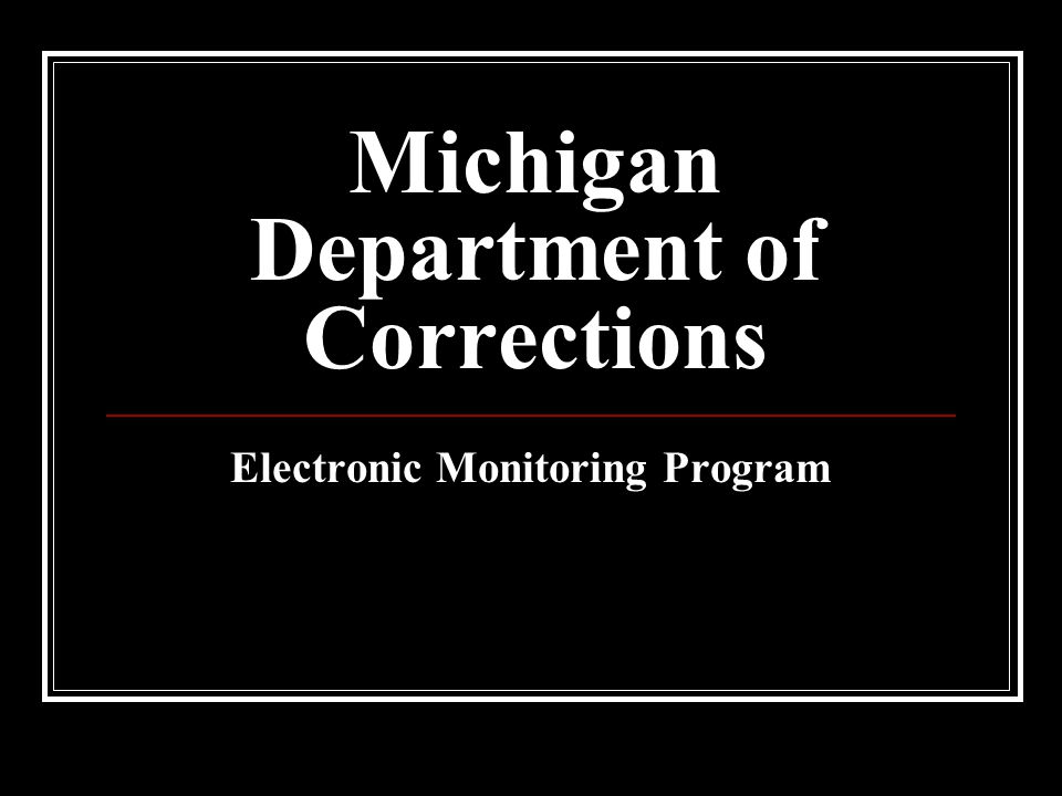 Michigan Department of Corrections