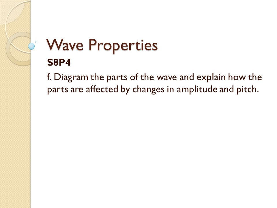 Wave Properties S8P4. f.