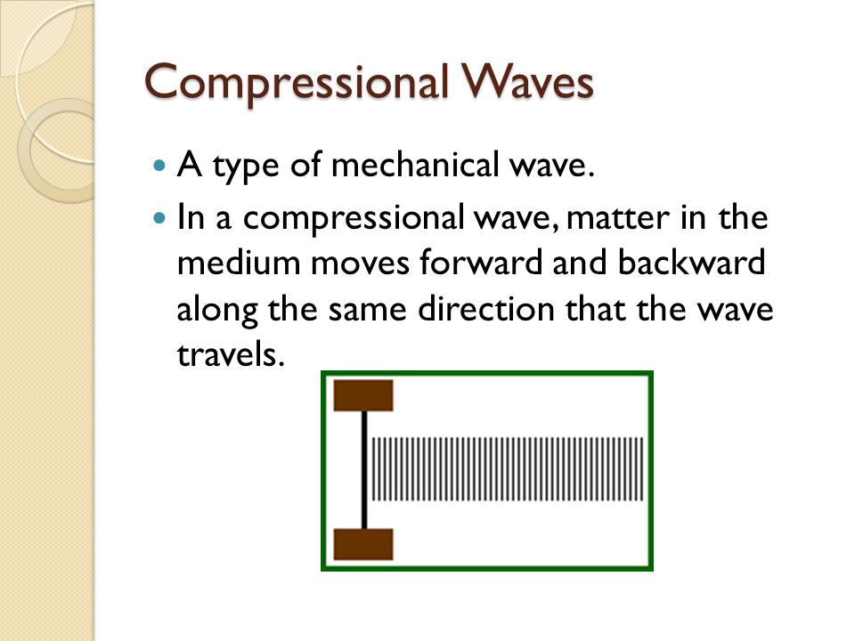 Compressional Waves A type of mechanical wave.