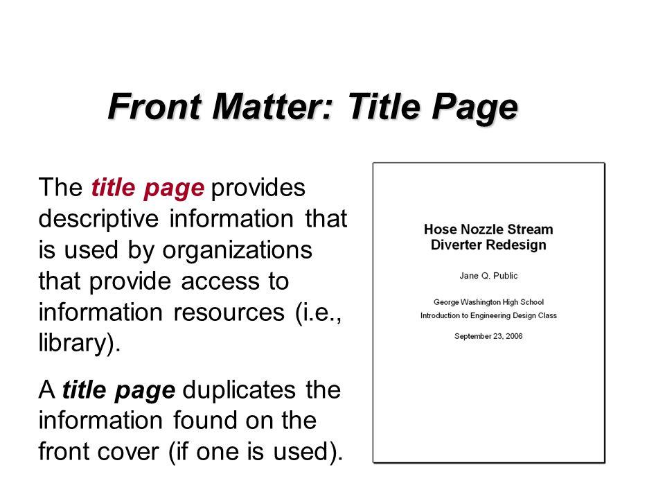 descriptive report writing