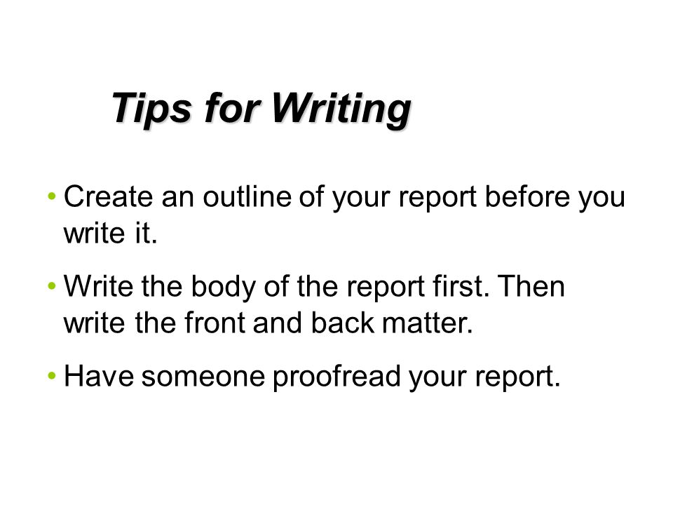 Technical Report Writing - ppt download