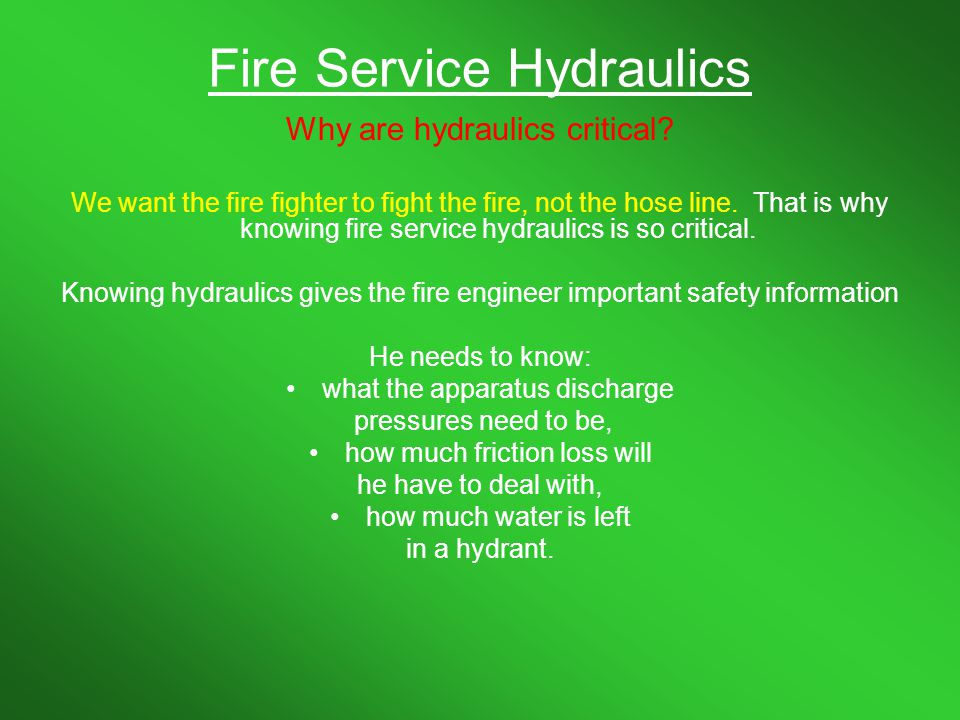 HYDRAULICS LET S DO SOME MATH Ppt Download