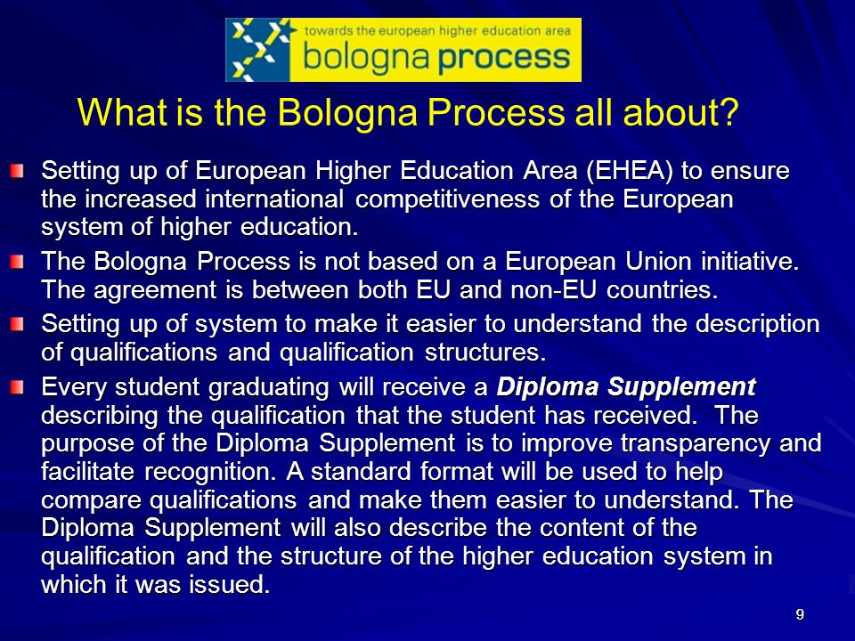 What is the Bologna Process all about