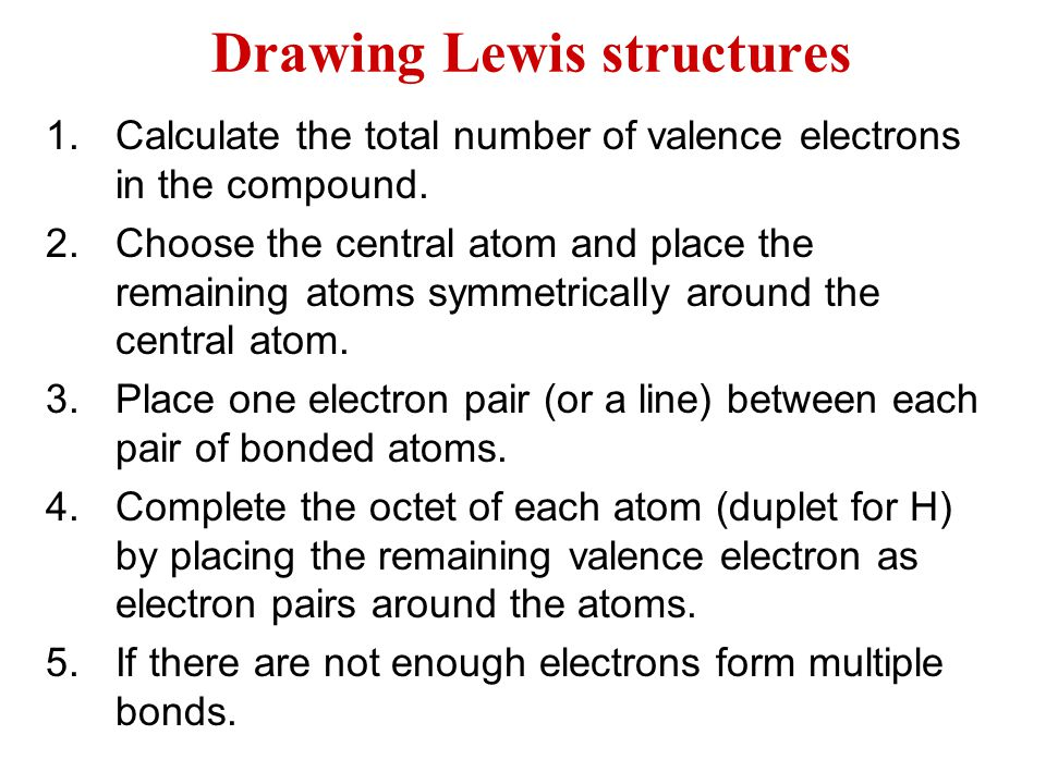 Drawing lewis structures ppt download drawing lewis structures ccuart Choice Image