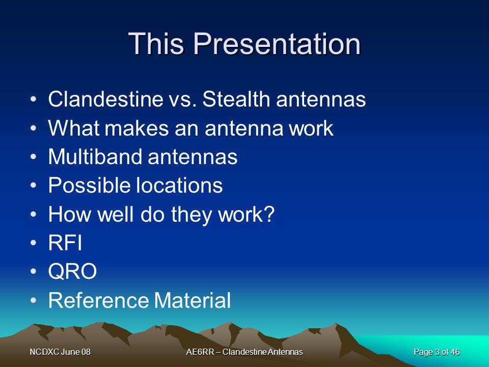 Clandestine Antennas for Amateur Radio - ppt download