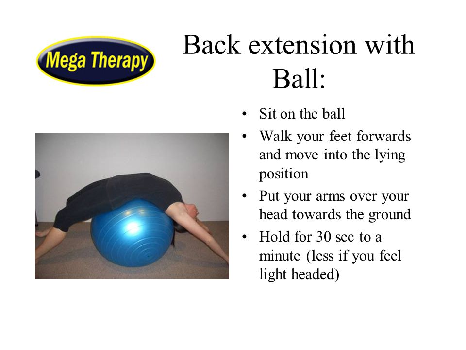 Back extension with Ball: