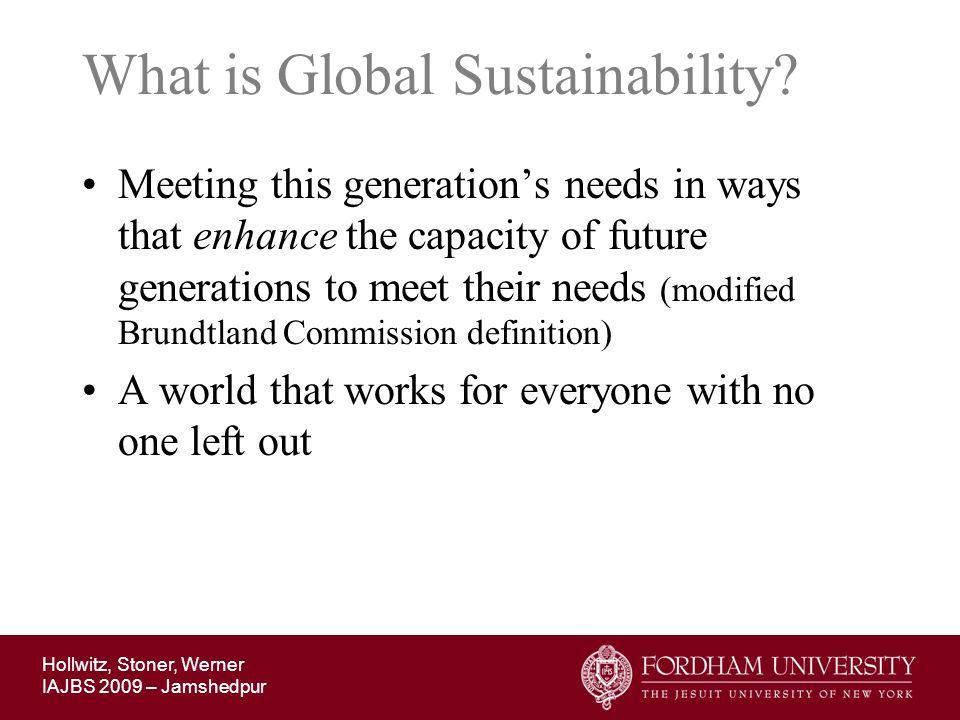 What is Global Sustainability