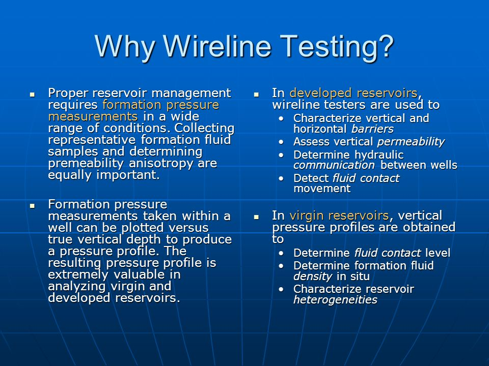 Wireline Formation Testers - ppt video online download