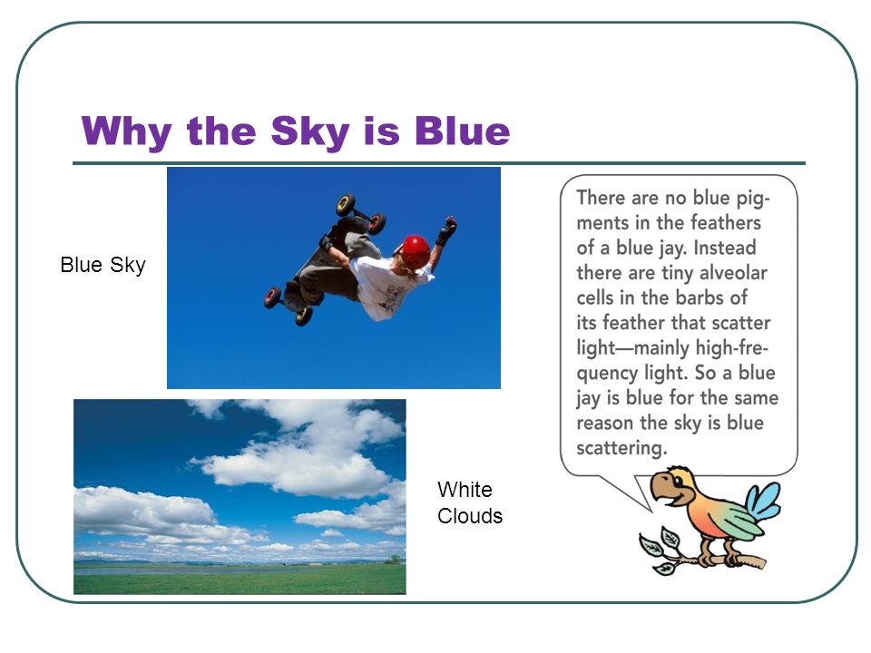 Why the Sky is Blue Blue Sky White Clouds