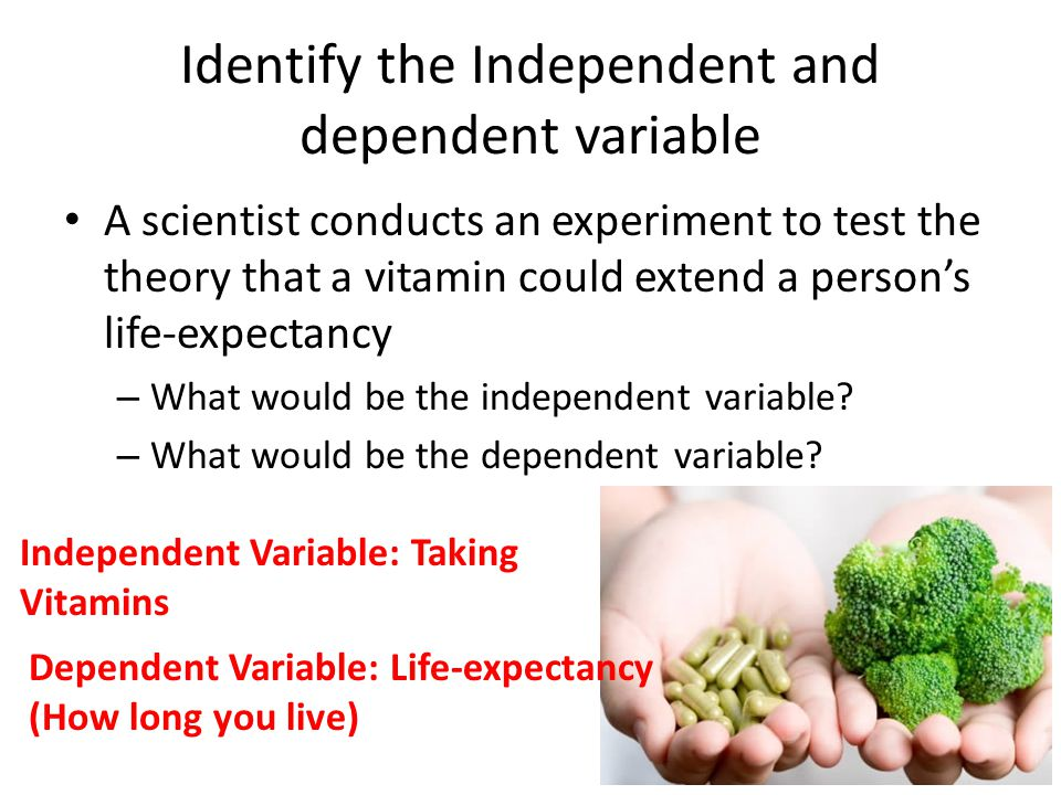 Identify the Independent and dependent variable