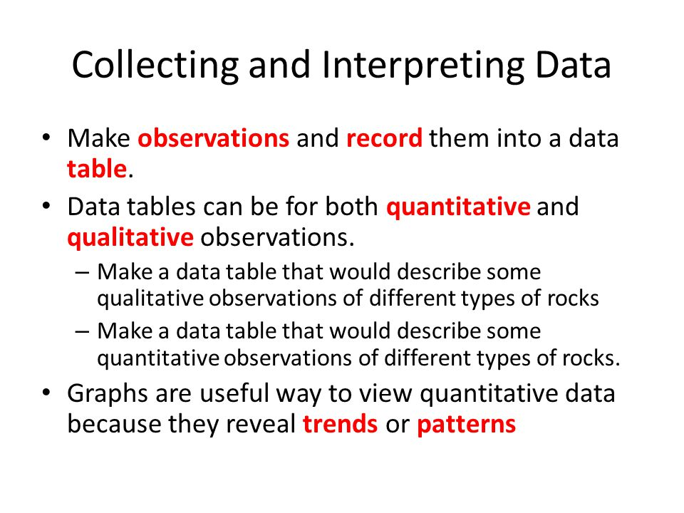 Collecting and Interpreting Data
