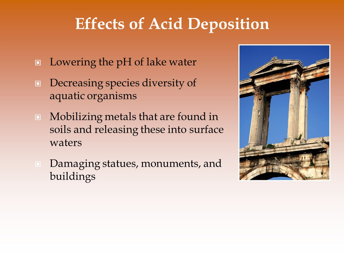 Effects of Acid Deposition