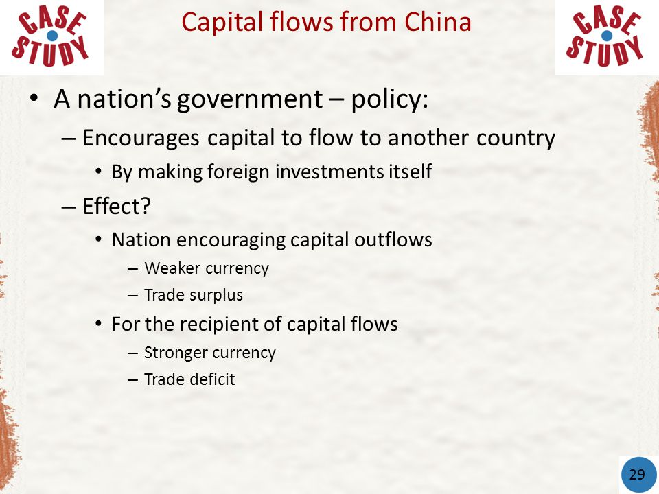 Capital flows from China