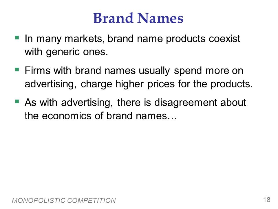 The Critique of Brand Names