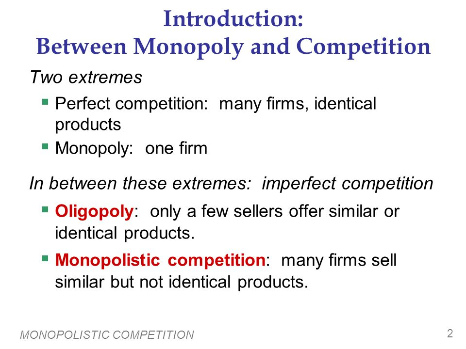 Characteristics & Examples of Monopolistic Competition