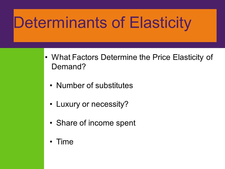factors determining price elasticity of demand