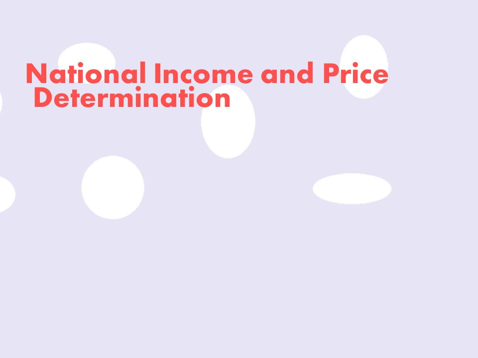 National Income and Price
