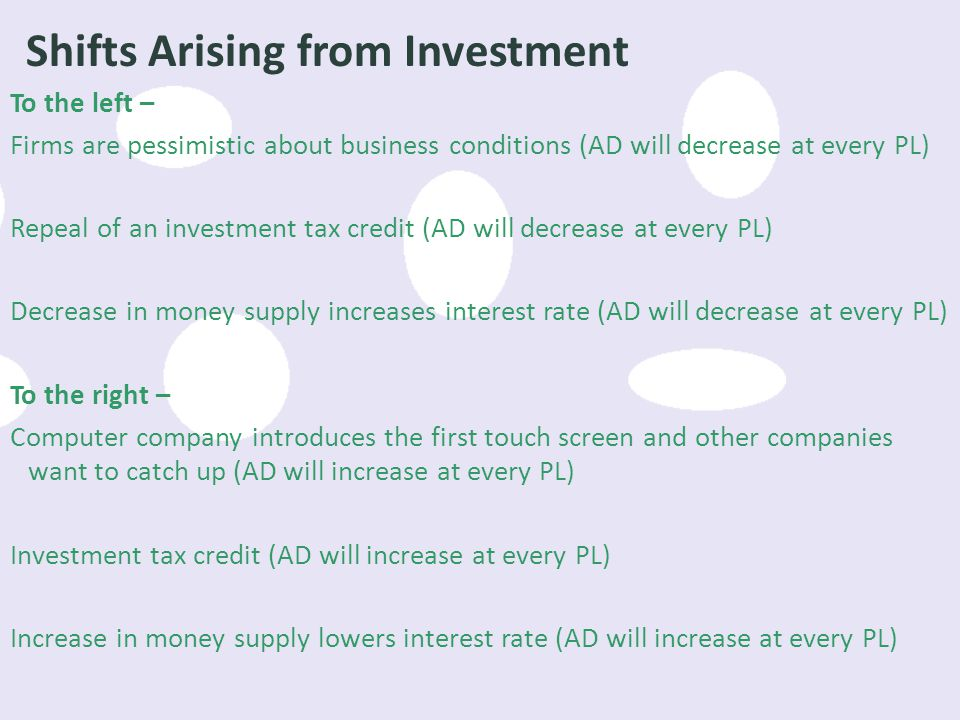 Shifts Arising from Investment